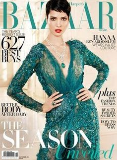 Hanaa Ben Abdesslem for Harper's Bazaar Arabia October 2012