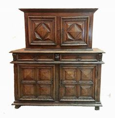 French Provincial Louis XIII Buffet Deux Corps