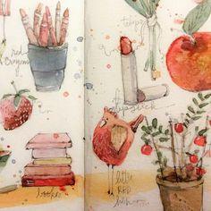 Sketchbook idea - color studies, Danielle Donaldson