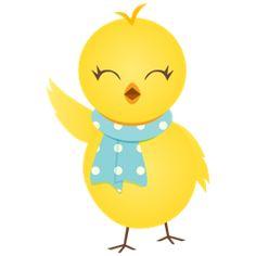 chick, waving