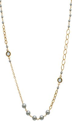 Coco Necklace in Platinum $148 #swarovski #pearls #jewelry