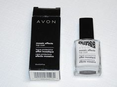 Avon Mosaic Effects Top Coat White 12 ml 0.4 fl oz polish mani pedi;; #Avon