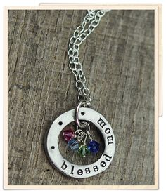 blessed with birthstones, $44 w/6 charms