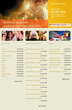 Gorące oferty na Sylwestra 2014, Jarmarki i wycieczki weekendowe.