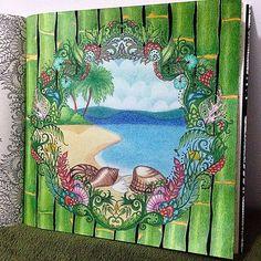 Livro: Oceano Perdido Pintado por @alinevascons  #topcoloridos #pinturas #colorir #livrosdecolorir #adultoscolorindo #oceanoperdido