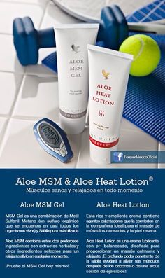 Aloe Heat Lotion und MSM Gel im Shop. #Forever_Living_Products   styledevie.flp.com