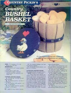 Country Bushel Basket 2/3