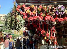 Christmas Market in Barcelona, Spain - Fira de-Santa Lucia