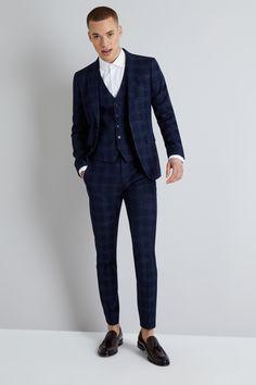 grå kostym herr