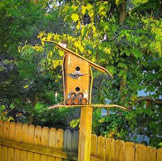 Upcycled skateboards from the garage. Duplex Birdhouse with truck and wheel perch.    #birdhouse #skateboards #upcycle