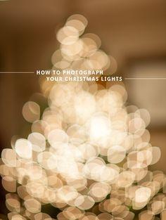 how to photograph your christmas tree lights