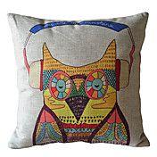 Cool Owl Decorative Pillow Cover – EUR € 12.37