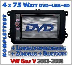 VW Golf V Autoradio Set DVD Bluetooth Lenkradfernbedienung