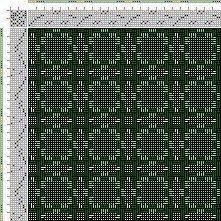 Drawdown Image: Figurierte Muster Pl. XLIII Nr. 2, Die färbige Gewebemusterung, Franz Donat, 8S, 8T