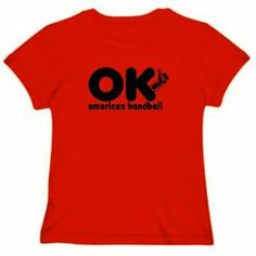 OK , I AM American Handball Sports Womens T-Shirt (Red, Size Large) TopExpressions. $13.99