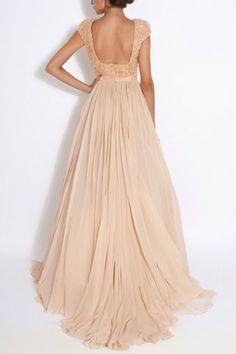 Peach pastel long dress - Chic Dresses and beautiful Skirts