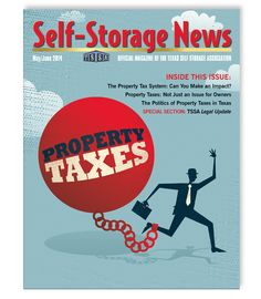 TSSA's May/June 2014 issue of Self-Storage News designed by Monarch Media & Consulting, Inc.