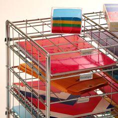 Amazon.com - Seville Classics 10 Slot/Compartment Steel Wire Literature Rack Organizer/Mailbox -