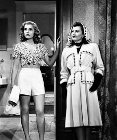 Lizabeth Scott and Barbara Stanwyck in The Strange Love of Martha Ivers