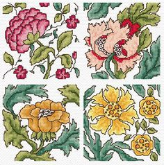 Maria Diaz Designs: MORRIS CARDS 1 (Cross-stitch chart)