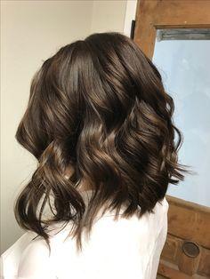 Chocolate brown hair #chocolatebrown #hair #brownhair #lob #mediumhair