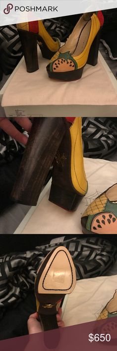 charlotte olympia brand new with box and dust bags, retail was $1200 Charlotte Olympia Shoes Heels