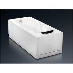 Cada dreptunghiulara de baie, cu sistem de hidromasaj, de la producatorul West, model Andra, disponibila cu dimensiuni de 160x76cm, fabricata din acril 100%, culoare alb. Bathtub, Bathroom, Model, Standing Bath, Washroom, Bathtubs, Bath Tube, Full Bath
