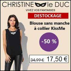 #missbonreduction; Déstockage : 50 % de réduction sur la Blouse sans manche à collier KissMe chez Christineleduc.http://www.miss-bon-reduction.fr//details-bon-reduction-Christineleduc-i858720-c1833250.html
