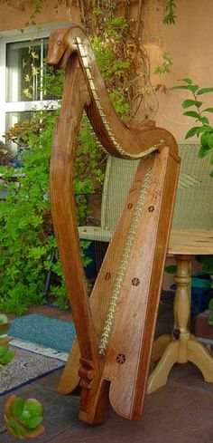 Soundboard of the Downhill Harp reconstruction
