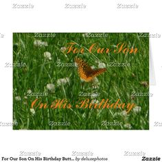 For Our Son On His Birthday Butterfly Card