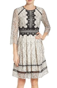 Eliza J Lace Fit & Flare Dress (Regular & Petite) available at #Nordstrom