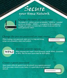 RIT Information Security Security Tips, Home Network, You Changed