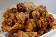 Mochiko Chicken, Garlic Fried Chicken, Japanese Fried Chicken, Crispy Chicken, Gf Recipes, Asian Recipes, Chicken Recipes, Cooking Recipes, Kitchens