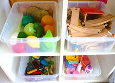 14 Ways of Keeping Kids Clutter Under Control. i like defining play areas, bins for rotating toys, basket for drawing supplies