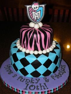 Monster High Cake...this has my little sister's name all over it!!