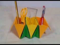 How to Make an Origami Basket Organizer   How to Make an Origami Basket ...