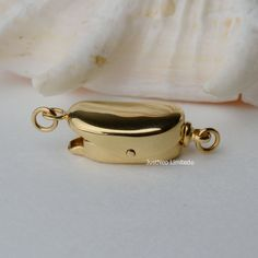 Cheap gold clasp, Buy Quality clasp gold directly from China clasp for pearls Suppliers: Solid 9k/14k Karat Yellow Gold Clasp Bea Shaped  Au375 9ct Oro Buckle for Pearl Necklace Jewelry Findings and Components
