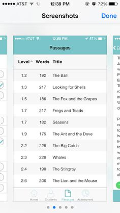 FluencyFinder is a great formative assessment tool for teachers. This tool allows teachers to assess a student's fluency, and reading level. The teacher is able to listen to the student read and not worry about counting words or missing mistakes. This is a great App that offers reading levels 1-4 with appropriate text. There are also questions at the end of the passage to gauge the students' ability to understand the context.