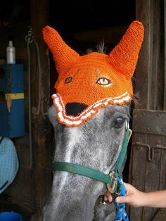 Pony Novelty Fox Mask Fly Bonnet by EquiEars on Etsy, $35.00