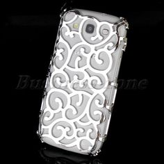 Silver Electroplating Hollow Skin Case Cover for Samsung i9300 Galaxy SIII S3 | eBay