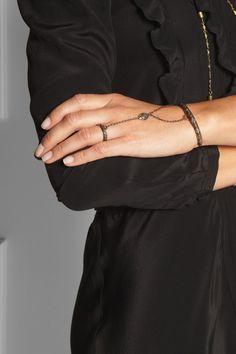 Pamela Love Anja embossed bronze finger bracelet  NET-A-PORTER.COM