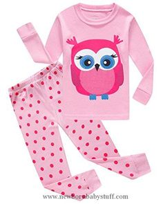 Baby Girl Clothes IF Pajamas Baby Girls' Owl Infant Sleepwears Cotton Pajamas Sets Pjs Pyjamas 18-24 Months