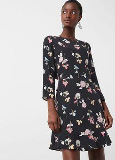 Flower print dress - Dresses for Woman | MANGO United Kingdom