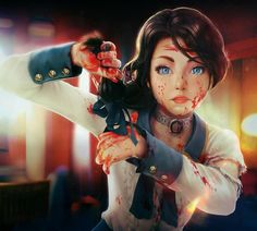 Been really wanting to play some Bioshock Infinite Recently and found this awesome piece... Bioshock Infinite: All i can see is blood! By Max Berthelot  #Bioshock #BioshockInfinite #Elizabeth #ConceptArt #Art #Fanart #Gaming #Games #VideoGames #Fantasy #Scifi #Columbia #Comstock #Songbird #Blood #game #videogame #painting #drawing #digitalart #digitalpainting #characterart #characterdesign #character #digital #insidific #instagram #playstation #xbox #pc