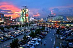SM City North EDSA at dusk. #citylights