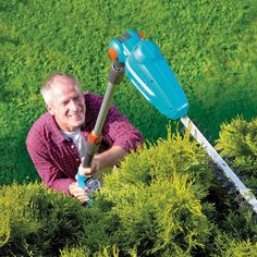 Cordless Long Reach Hedge Trimmer Will Trim That Wild Bush -  #gardening #tools