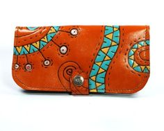 Leather wallet on Etsy