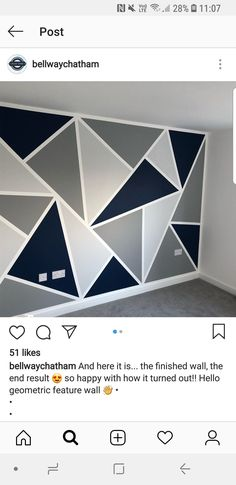 calenkcall - 0 results for home Living Room Wall Designs, Home Room Design, Home Design Decor, Feature Wall Bedroom, Small Room Bedroom, Bedroom Decor, Room Wall Painting, Room Paint, Geometric Wall Paint