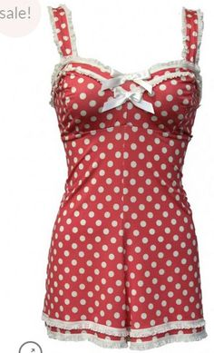LULU RASPBERRY DOT PLAYSUIT by Jools Couture One of our bestsellers in vintage print.... What a cutie...... NOW ONLY $59AUD www.joolscouture.com