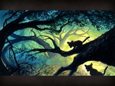 The Lion King Concept Art (Simba and Nala leave the Pridelands)